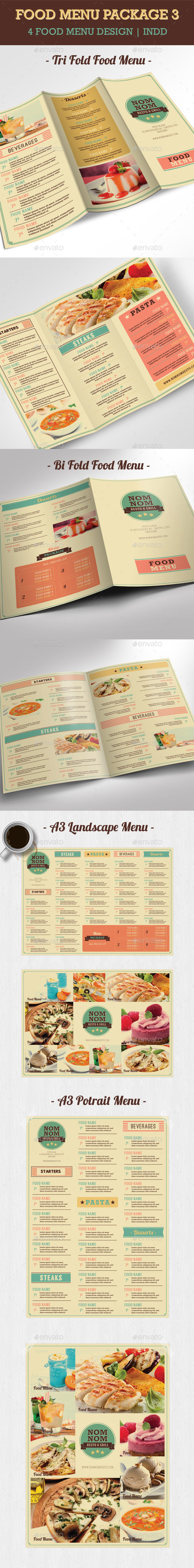Food Menu Package 3 - Food Menus Print Templates