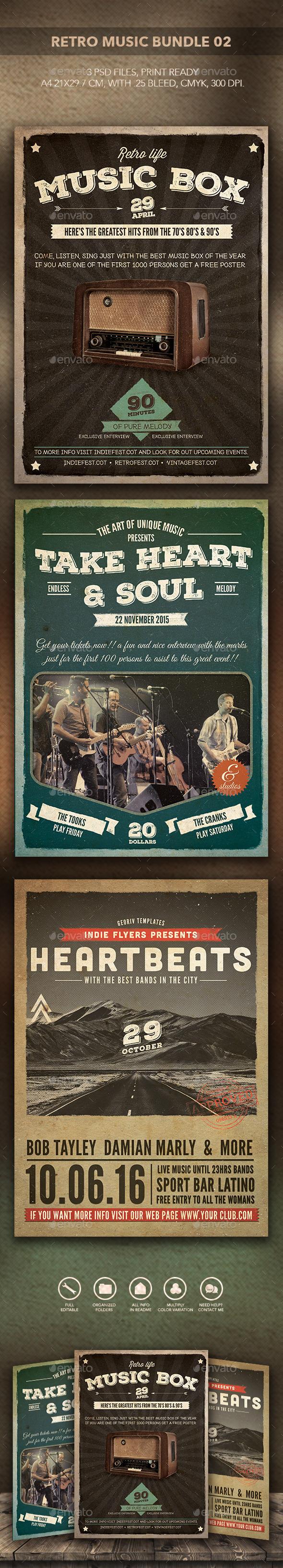 Retro Music Bundle 02 - Events Flyers