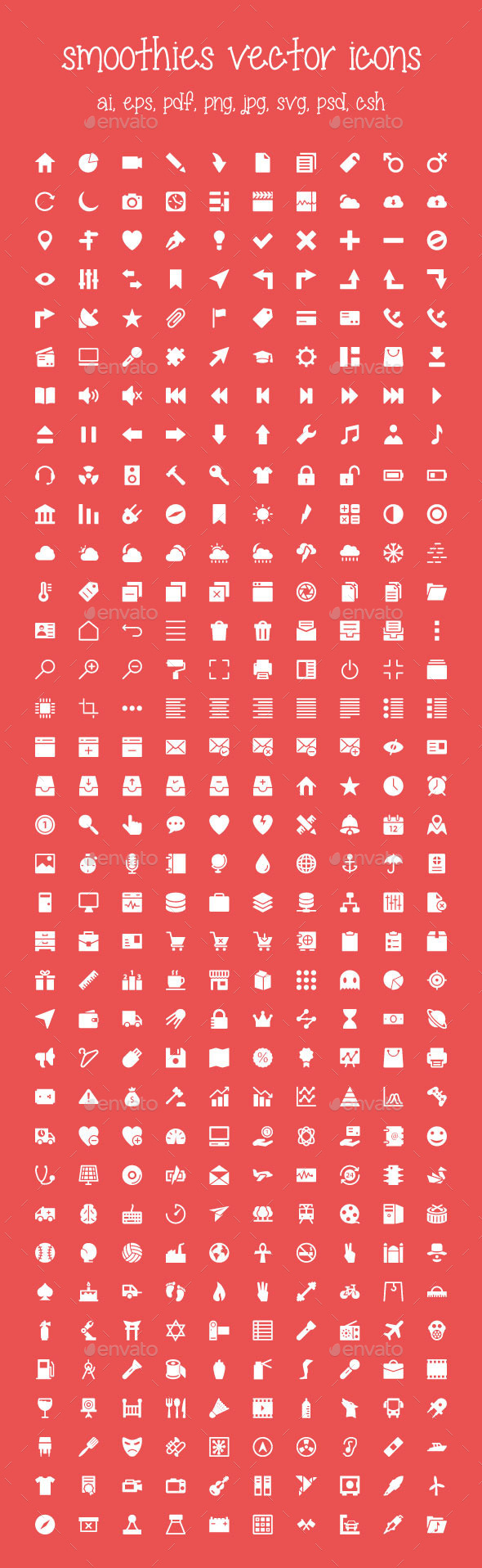 350+ Smoothies Vector Icons - Web Icons
