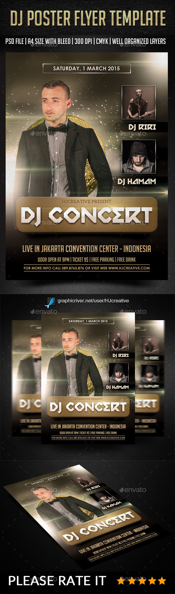 DJ Poster Flyer Vol. 1 - Clubs & Parties Events