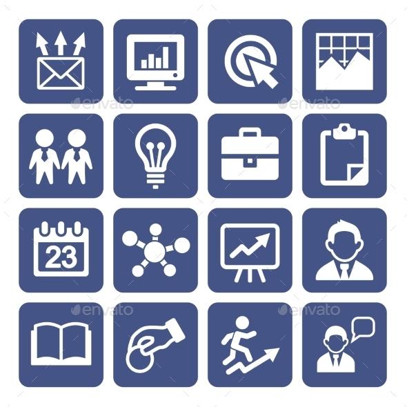 Marketing Icons Set - Web Technology