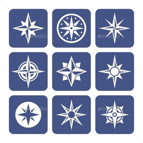 Compass Icons Set - Web Icons