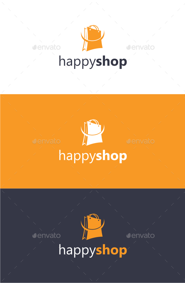 Happy Shop - Logo Template - Objects Logo Templates