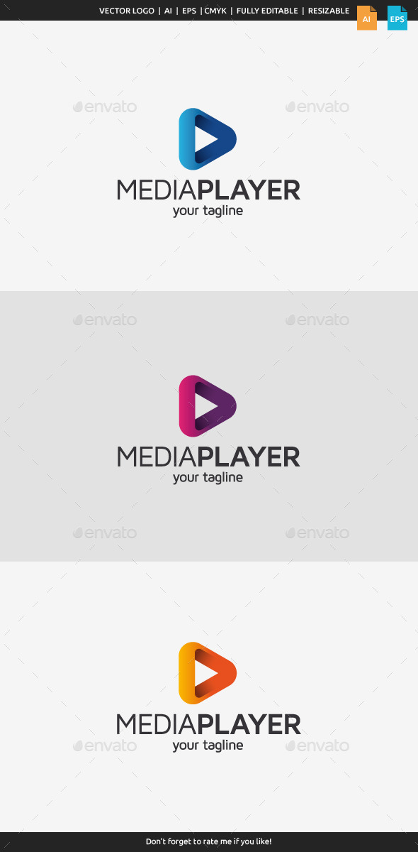 Media Player Logo - Symbols Logo Templates