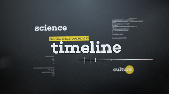 Abstract D Timeline By Motionvids VideoHive - Timeline after effects template
