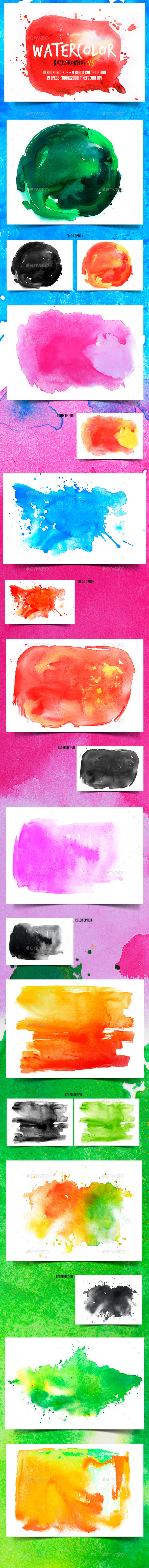 Watercolor Backgrounds 3 - Backgrounds Graphics