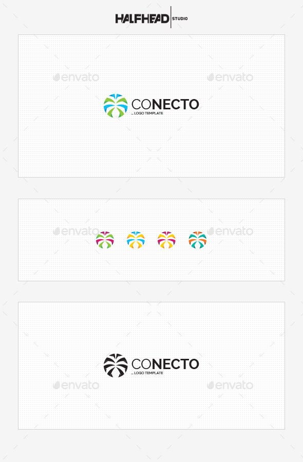 Conecto Logo Template - Abstract Logo Templates