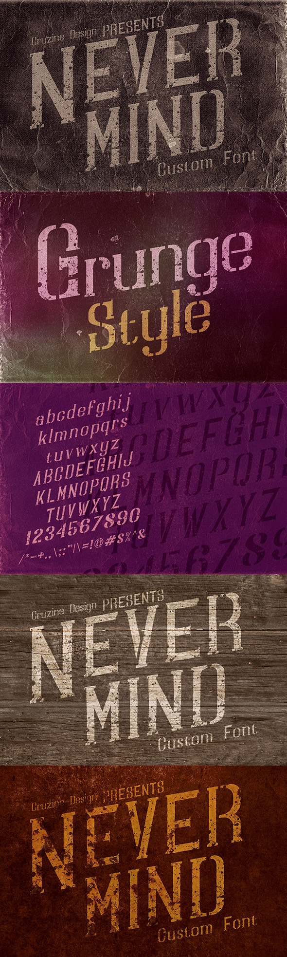 Nevermind Custom Font - Miscellaneous Serif