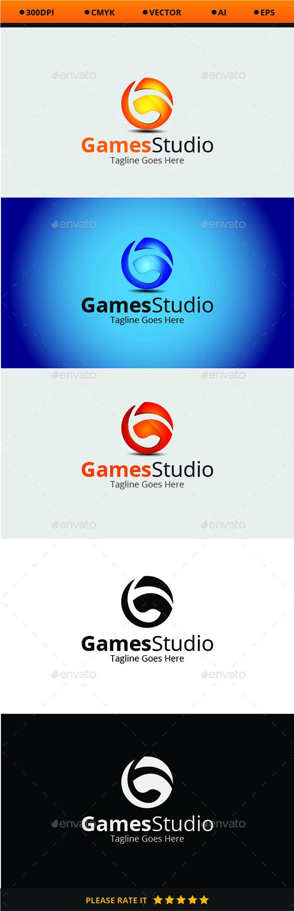 Games Studio - Logo Templates