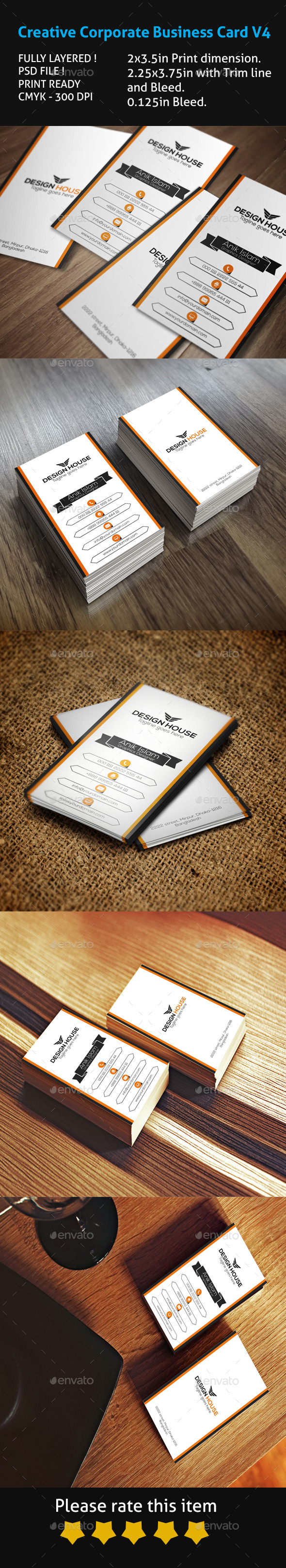 Creative Corporate Business Card V4 - Creative Business Cards