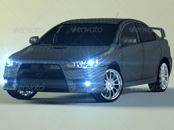 Mitsubishi Lancer Evo X - 3DOcean Item for Sale