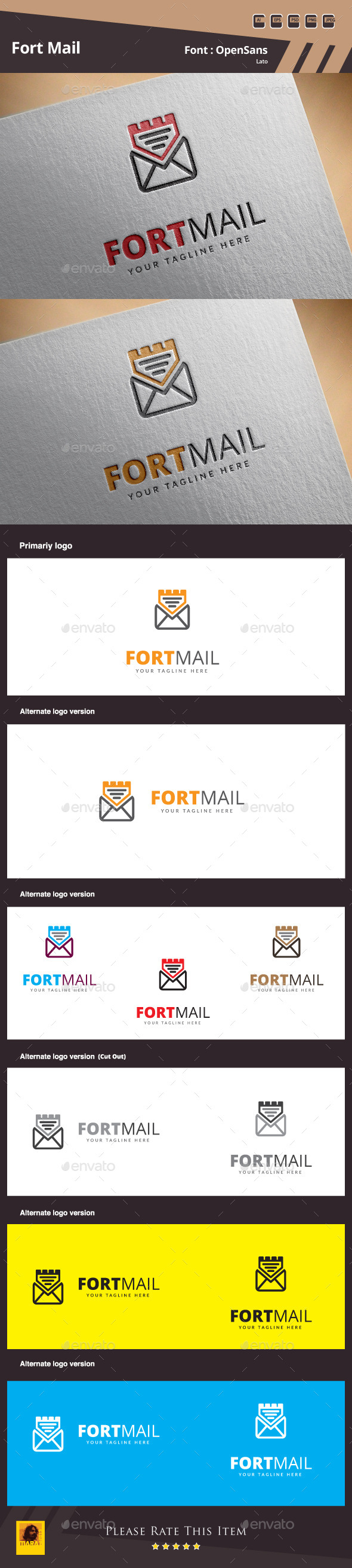 Fort Mail Logo Template - Symbols Logo Templates