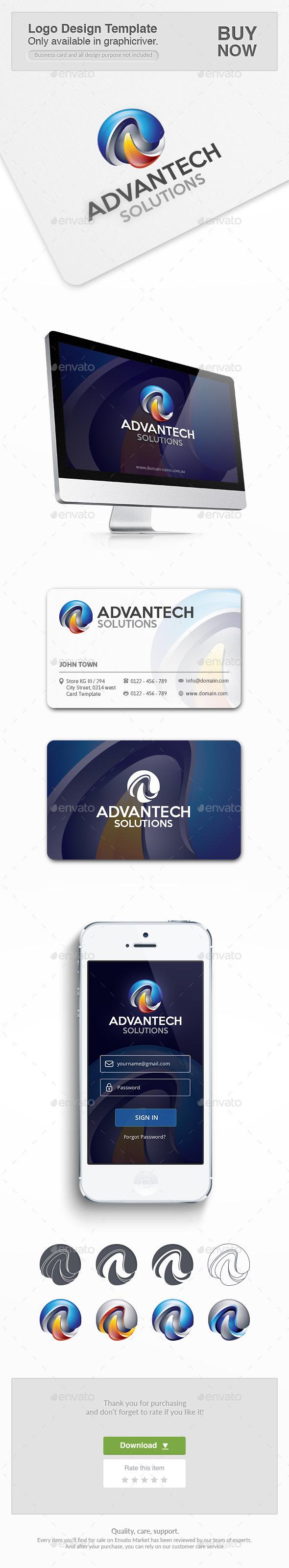 Advan Tech - Letters Logo Templates