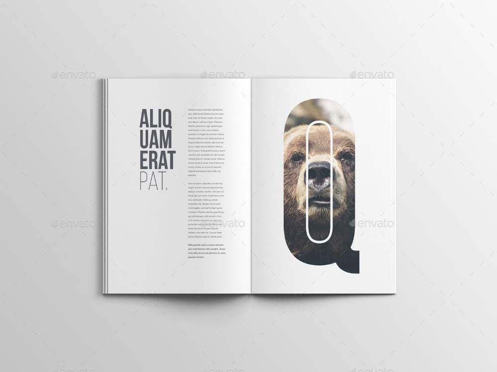 A4 Magazine Mockup By Blugraphic0 Graphicriver