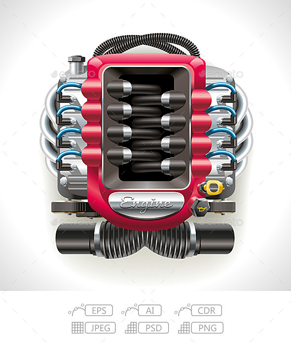 Internal Combustion Engine - Man-made Objects Objects