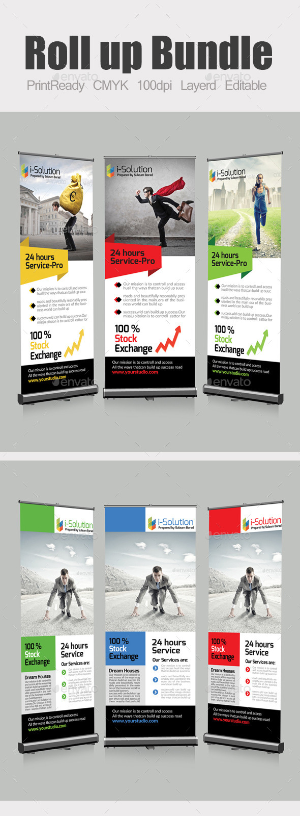 Roll Up Business Banners Bundle - Signage Print Templates