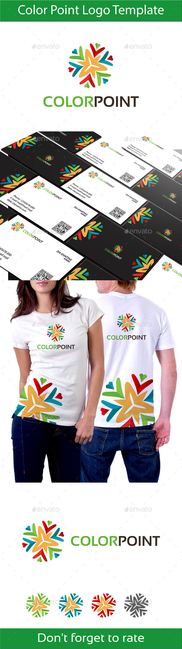 Color Point Logo - Vector Abstract