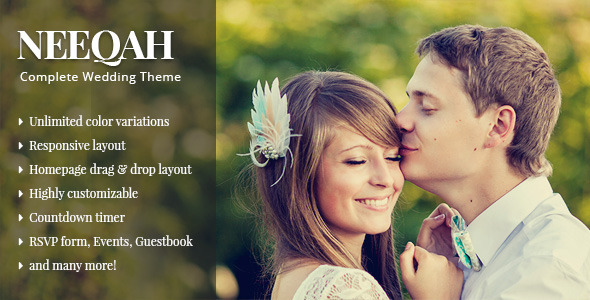 Neeqah – Responsive Wedding WordPress Theme