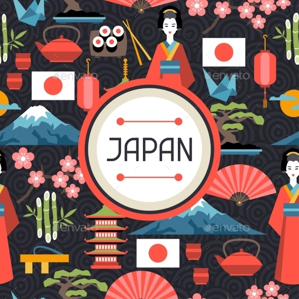 Japan Seamless Pattern - Travel Conceptual