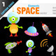 Cartoon Space Elements - GraphicRiver Item for Sale