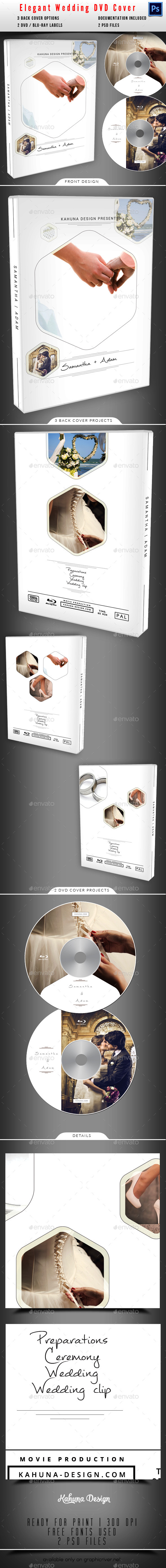 Wedding DVD / Blu-Ray Cover 05 - CD & DVD Artwork Print Templates