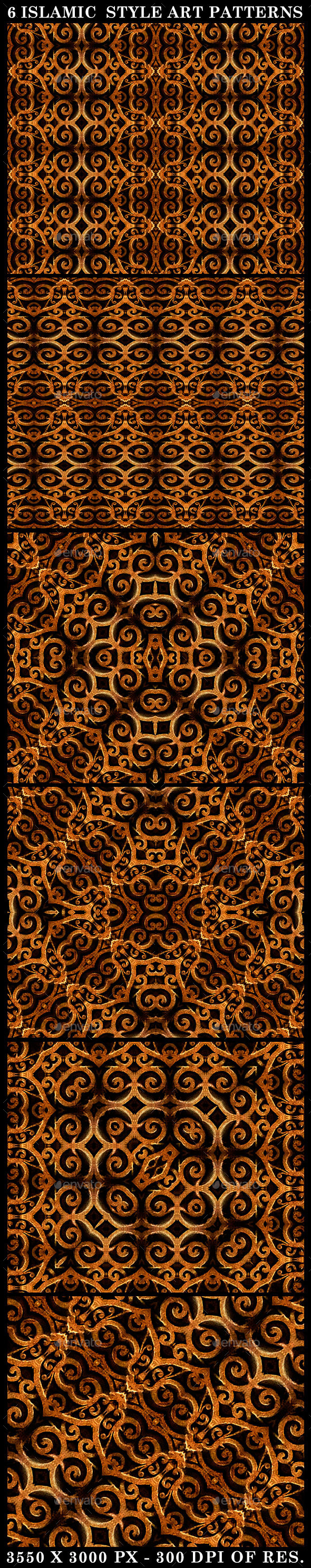 6 Islamic Style Art Patterns - Patterns Decorative