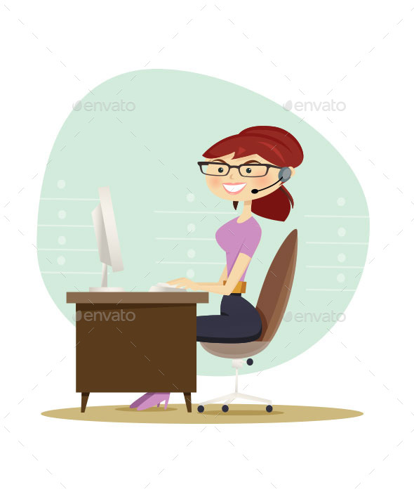Office Secretary - Vectors