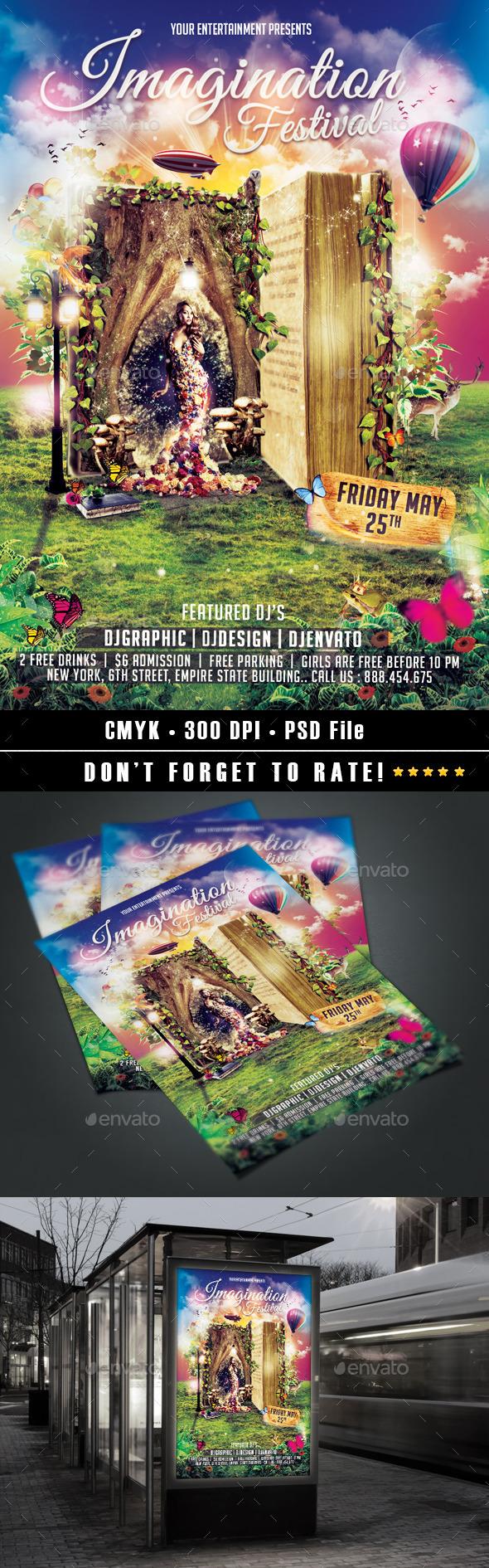 Imagination Festival Flyer - Events Flyers