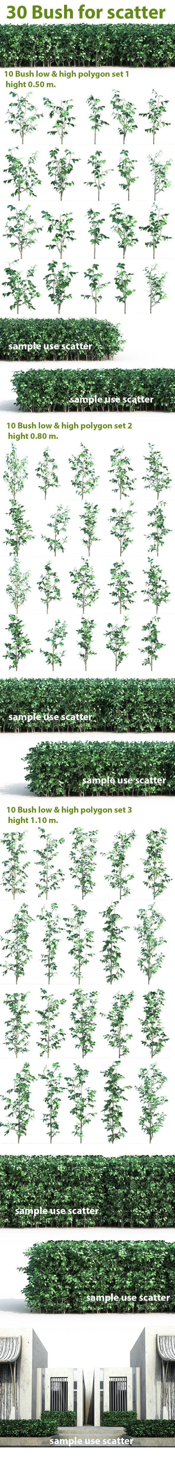 30 Bush For Scatter - 3DOcean Item for Sale