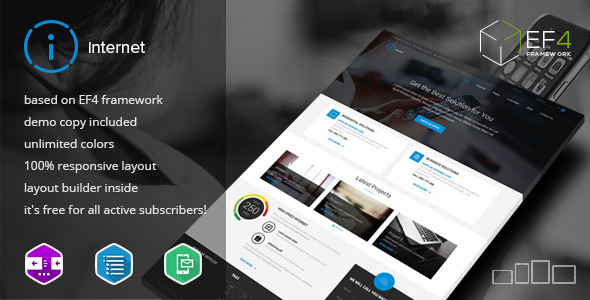 Image of Internet - Multipurpose & Internet Service Theme