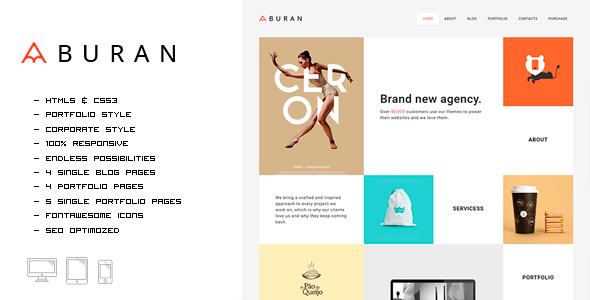 Buran - Smart Portfolio and Business HTML Template