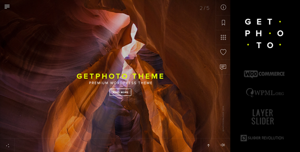 GetPhoto – Photography & Portfolio WordPress Theme