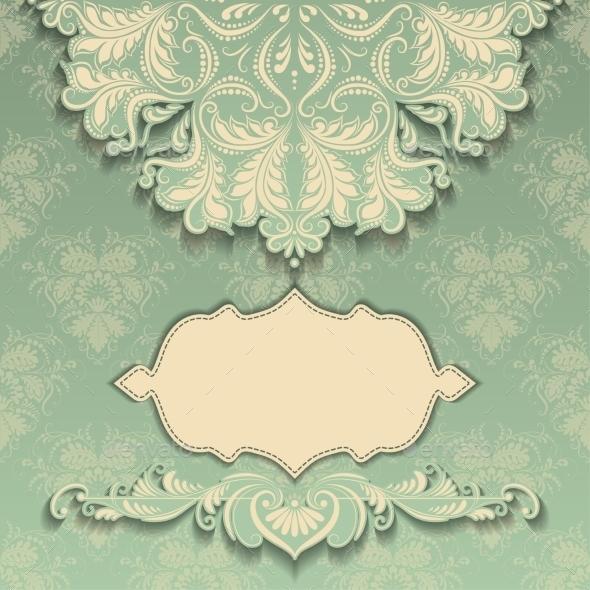 Vintage Pattern with Frame - Patterns Decorative