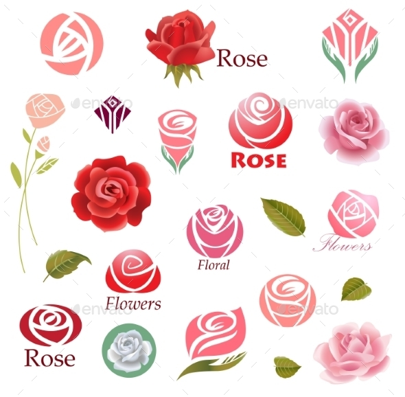 Roses Design Elements  - Flowers & Plants Nature