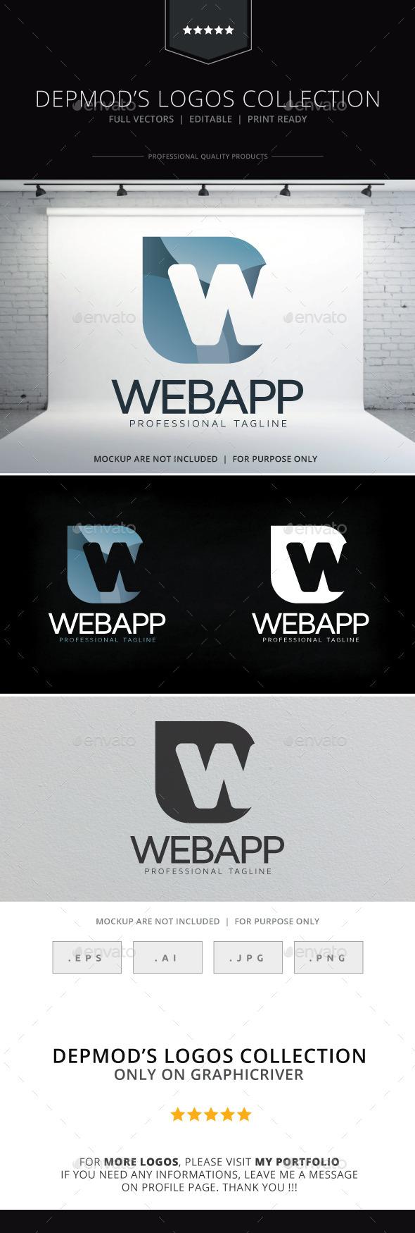 Web App Logo - Letters Logo Templates