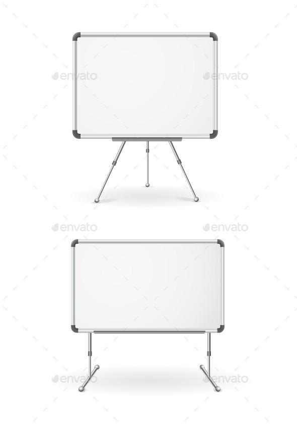 Empty Whiteboard  - Man-made Objects Objects