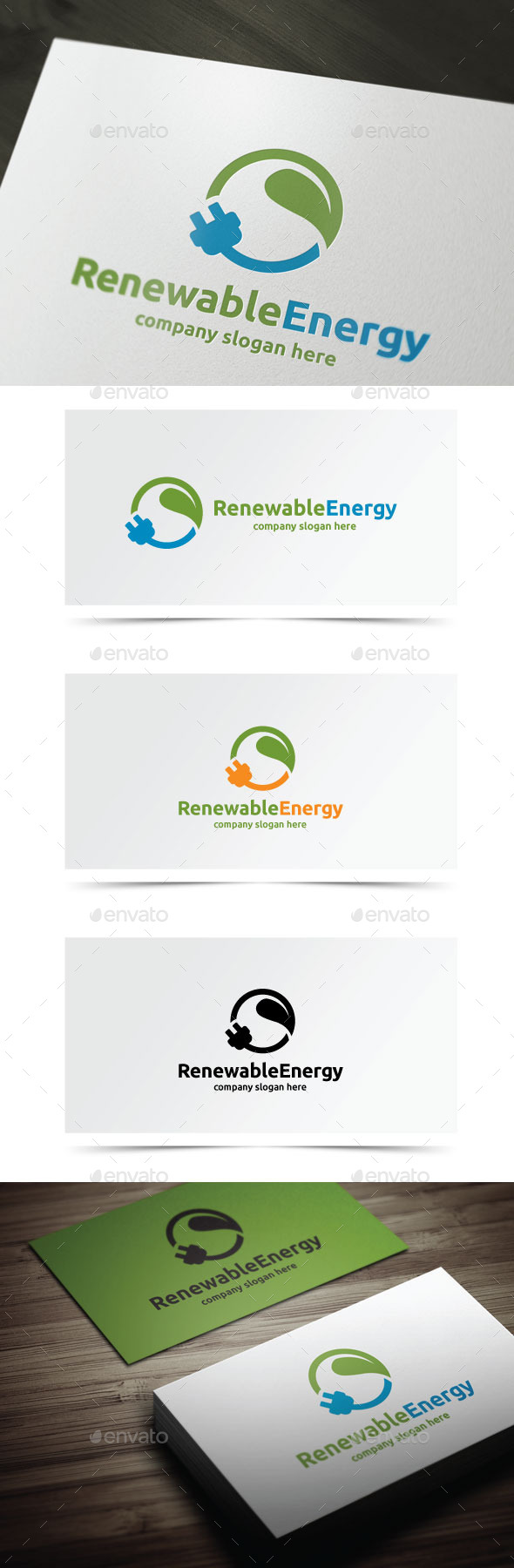 Renewable Energy - Objects Logo Templates