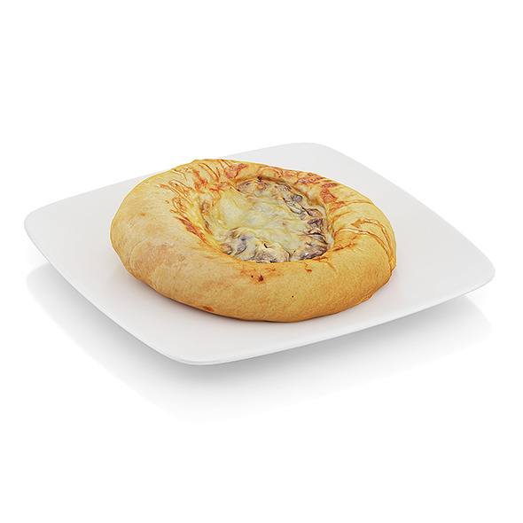 Bread with mushrooms and cheese - 3DOcean Item for Sale