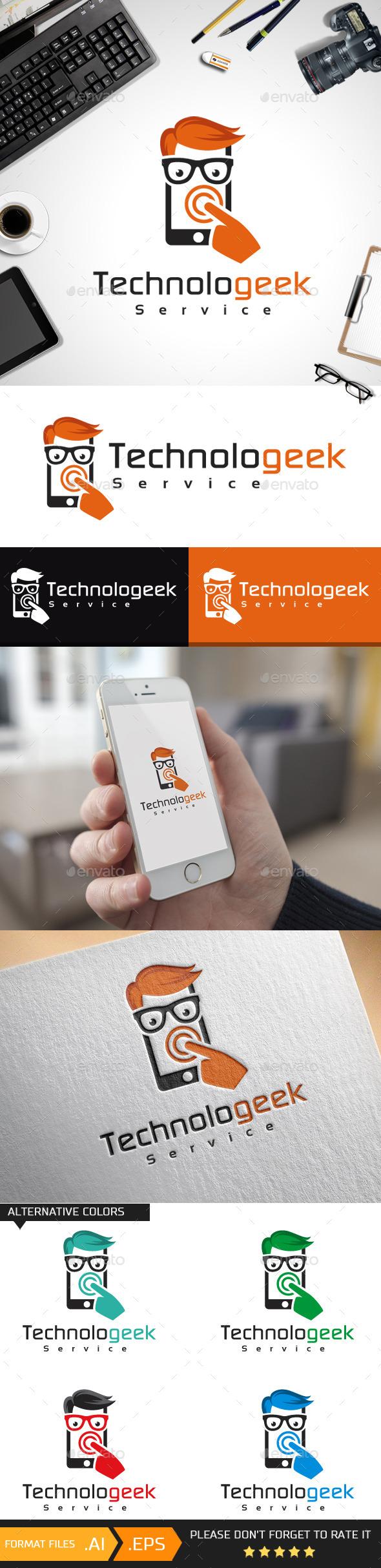 Technologeek Logo Template - Objects Logo Templates