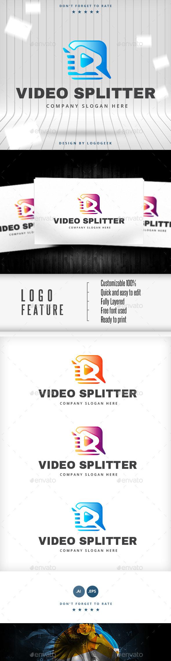 Video Splitter Logo - Logo Templates
