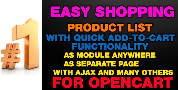 EasyShopping – Product list with quick add-to-cart