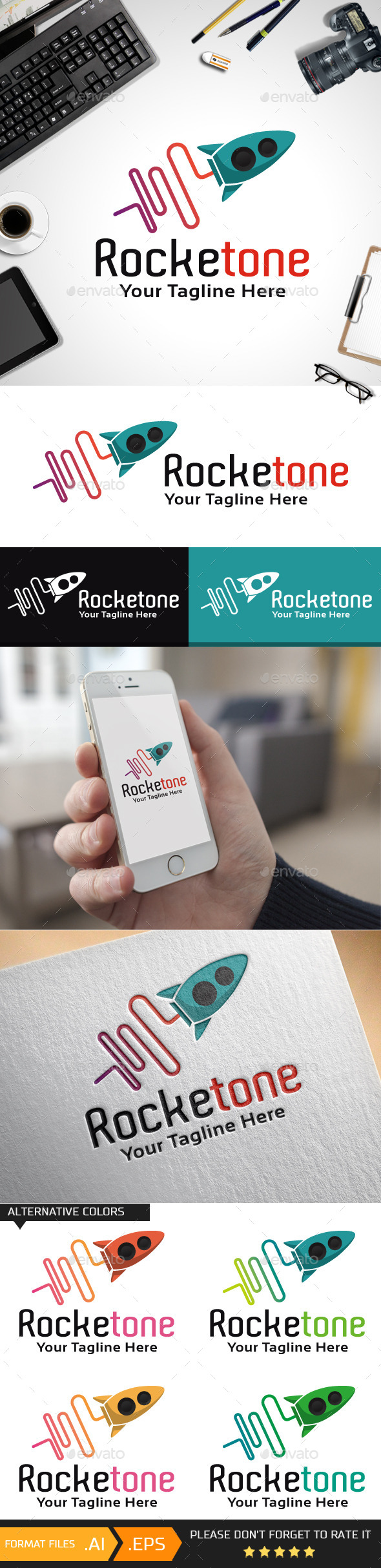 Rocketone Logo Template - Objects Logo Templates