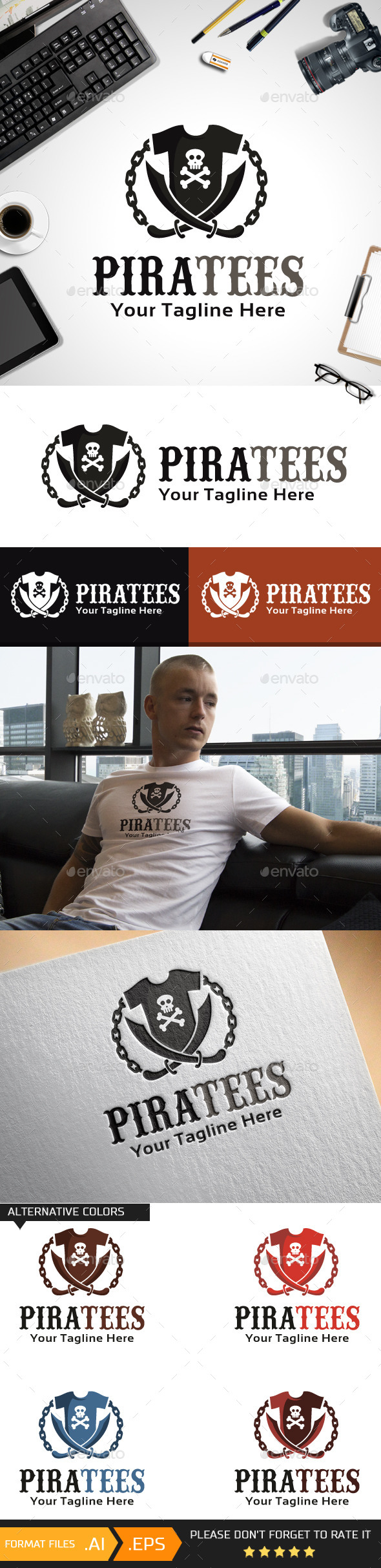 Piratees Logo Template - Objects Logo Templates