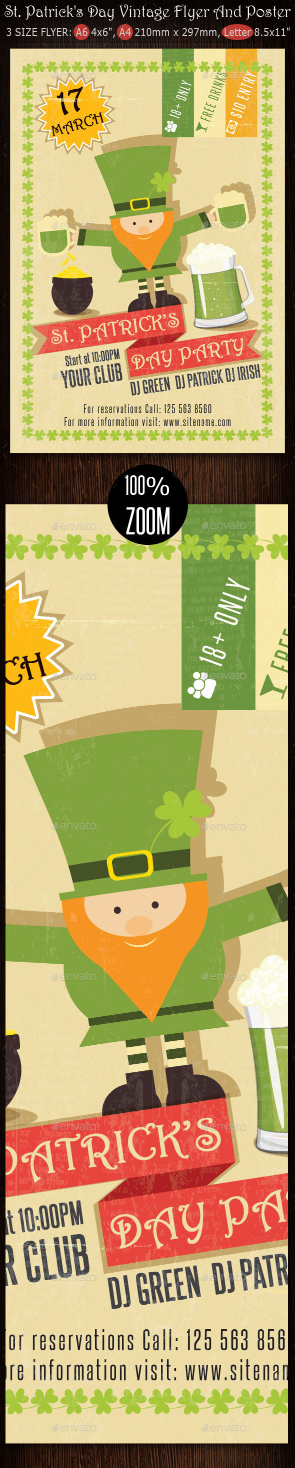 St. Patrick's Day Vintage Flyer And Poster - Clubs & Parties Events
