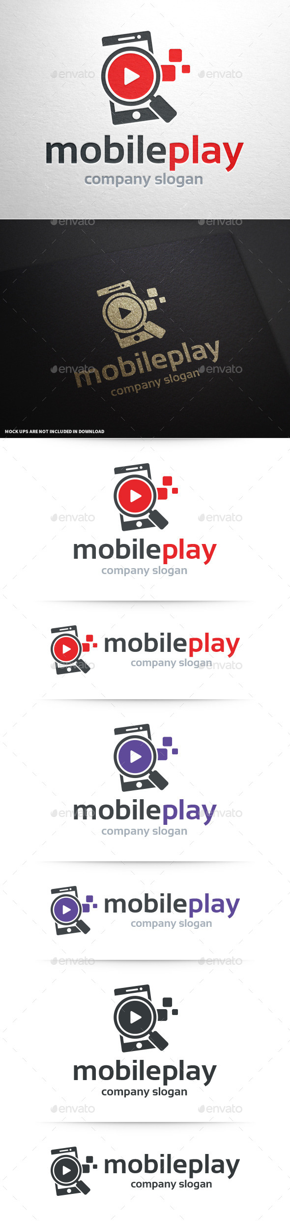 Mobile Play Logo Template - Objects Logo Templates