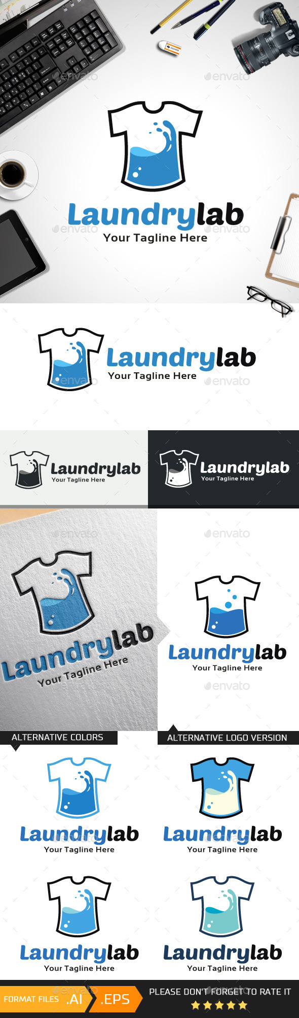Laundry Lab Logo Template - Objects Logo Templates