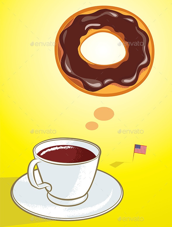 Coffee Donut - Food Objects