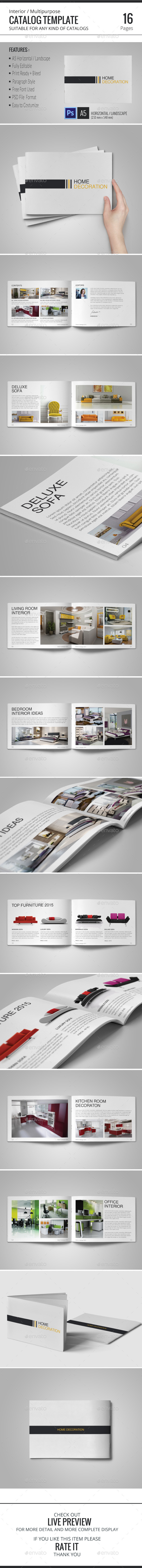 Interior Catalog Template - Catalogs Brochures