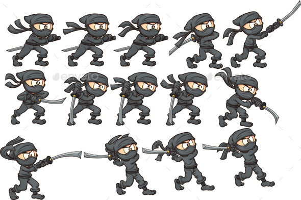 Katana Attack - Sprites Game Assets