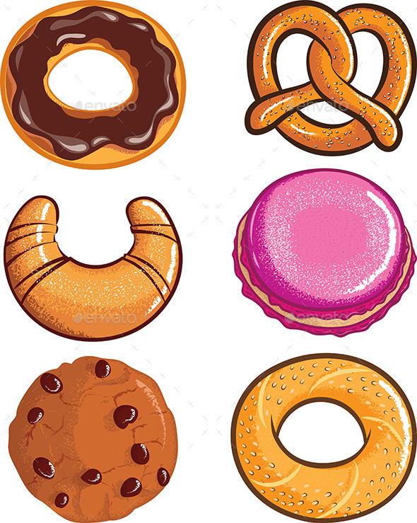 Pastry Assortments - Food Objects
